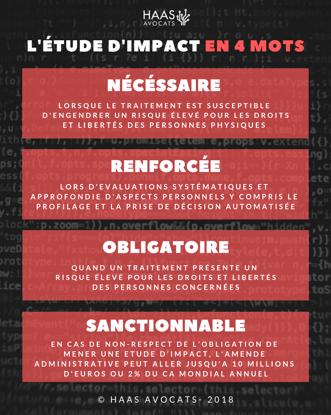 L'étude d'impact en 4 mots