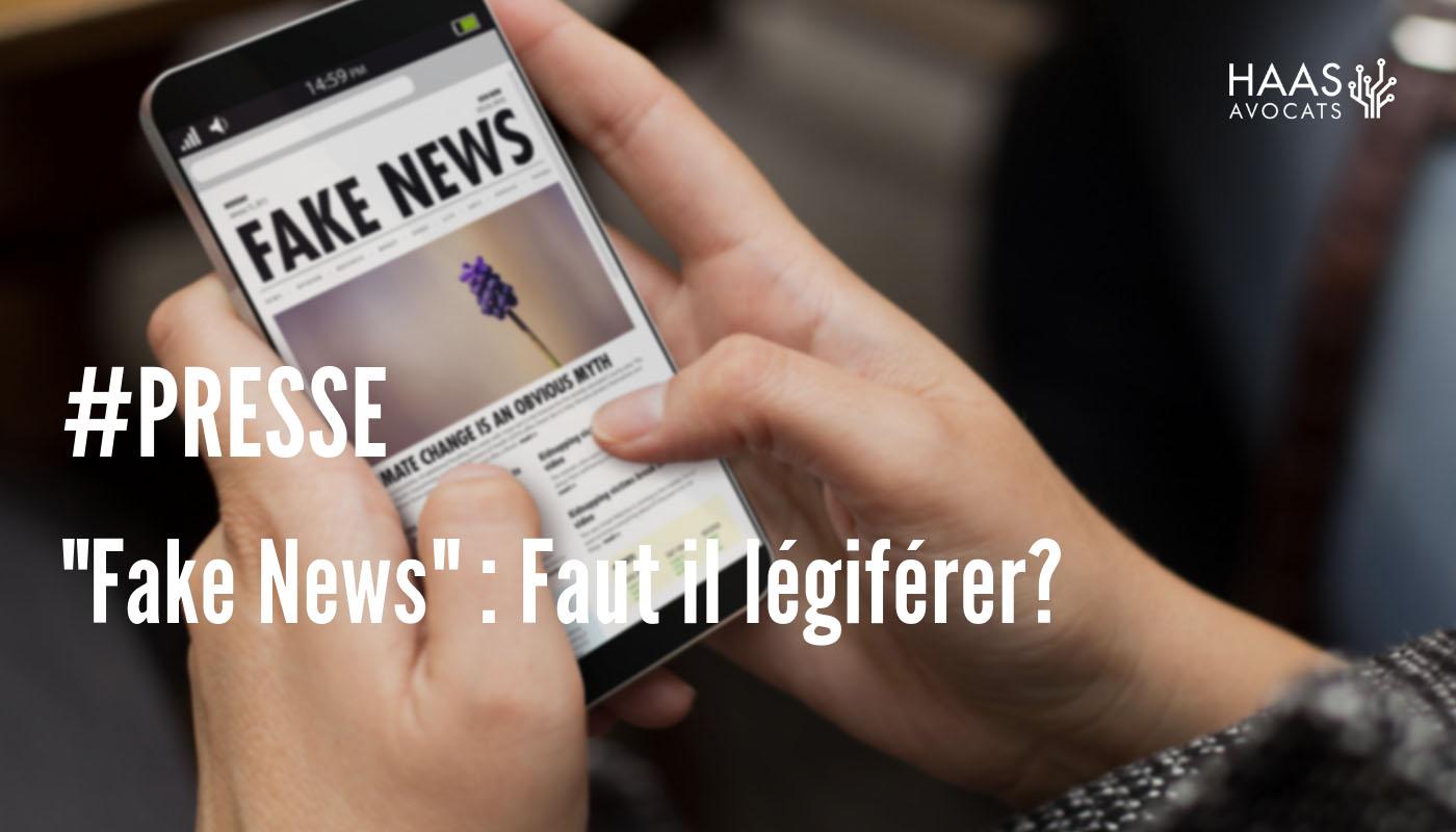 """""""Fake news"""": faut-il légiférer ?"""