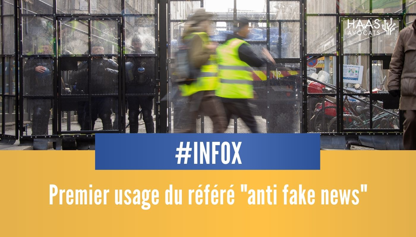 "Le premier usage de référé ""anti fake news"" à l'encontre d'un ministre !"